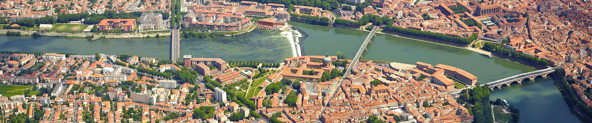 Vue aérienne de Toulouse