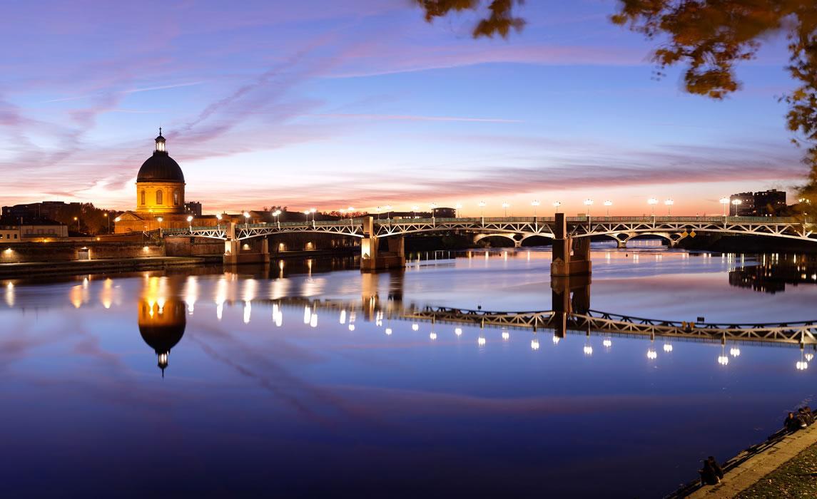La Garonne et le dôme de la Grave